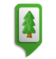 map sign spruce tree icon cartoon style vector image vector image