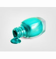 nail polish bottle on white background vector image vector image