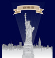 new york city usa skyline american city liberty vector image vector image
