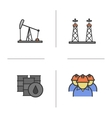 Oil industry icons vector image vector image