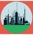 Oil refinery vector image