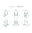 People Line Avatars vector image vector image
