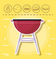 picnic and food design vector image