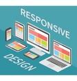 Responsive web design 3d isometric flat vector image
