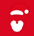 santa claus in hat on red background santa claus vector image vector image