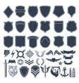 set empty shapes for military badges army vector image vector image