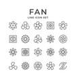 set line icons fan vector image
