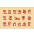 Set of Tiger cubs vector image vector image