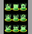 set of website icons vector image vector image