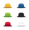 Six Colors Cloche Hat Flat Style vector image