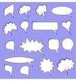 Trendy speech bubbles vector image vector image