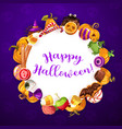 trick or treat banner halloween party sweets vector image vector image