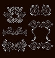 vintage frames and scroll elements2 vector image vector image