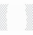 wire grid fence with a hole vector image vector image