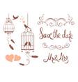 set design elements for wedding vector image