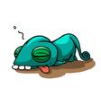 Cartoon Tired Chameleon vector image