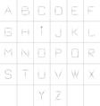 A-Z vector image vector image