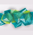 abstract geometric background with polygonal 3d vector image