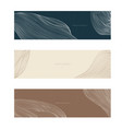 abstract landscape banner with line pattern vector image vector image