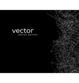 Abstract particles on black background vector image