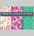 abstract seamless geometric patterns vector image