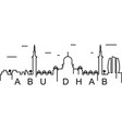 abu dhabi outline icon can be used for web logo vector image vector image
