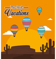 Air balloon over sunshine background vector image vector image