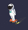 astronaut moving on gyro scooter vector image vector image