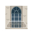 balcony with wrought iron railing and arched vector image