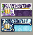 banners for happy new year vector image vector image