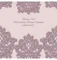 Baroque Vintage floral damask card vector image vector image