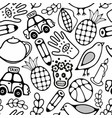 black and white seamless for coloring vector image