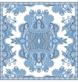 blue colour floral paisley bandanna Square vector image