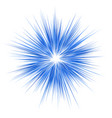 blue explosion graphic design on white background vector image vector image