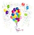 bunch balloons vector image vector image