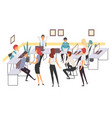 business people haracters working in office vector image vector image