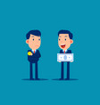 business person and job salary concept finance vector image vector image