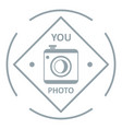 camera logo simple gray style vector image