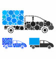 cargo composition icon spheric items vector image vector image