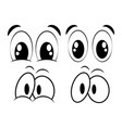 cartoon eyes set for comic book design isolated vector image vector image
