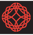 Celtic knot design vector image