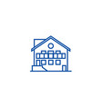 chalet line icon concept chalet flat vector image vector image