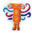 Character sad monster flat cute orange muta vector image vector image