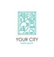 cityscape linear vector image