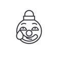 clown emoji concept line editable concept vector image vector image