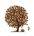 Coffee time Art tree for your design vector image vector image
