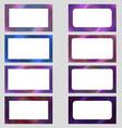 Colored digital art business card frame set vector image vector image