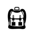 contour backpack object with pockets and closures vector image vector image