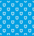 data shield pattern seamless blue vector image