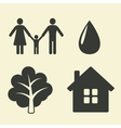 environmental protection icons vector image vector image